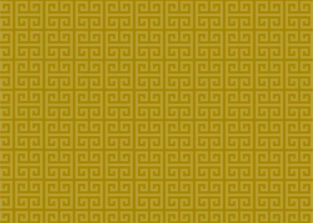 Dark yellow greek design pattern