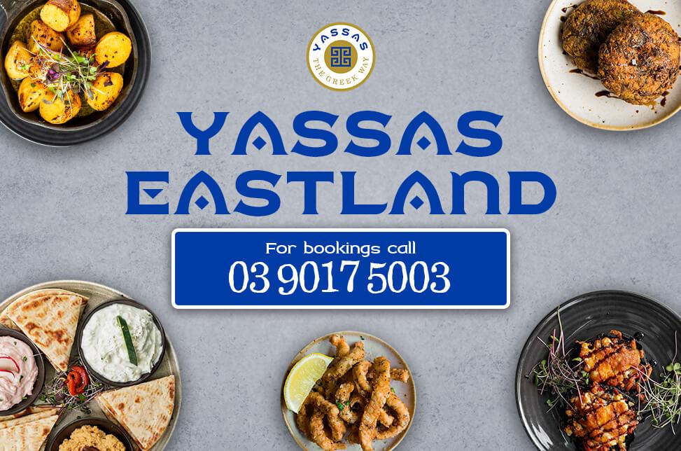 desktop pop up poster - booking at Yassas Eastland